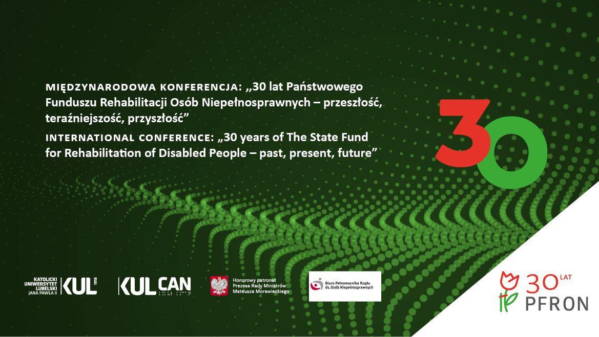 Logo konferencji PFRON