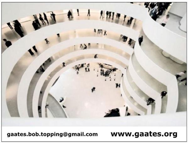 Plansza z adresami mailowym i serwisu internetowego GAATES: gaates.bob.topping@gmail.com , www.gaates.org