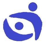 Logo Biura całe w kolorze niebieskim